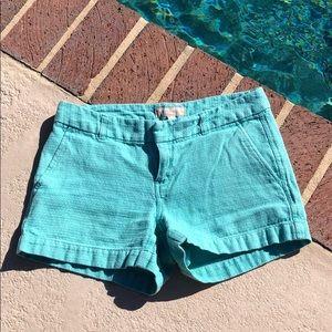 Banana republic blue green colored shorts
